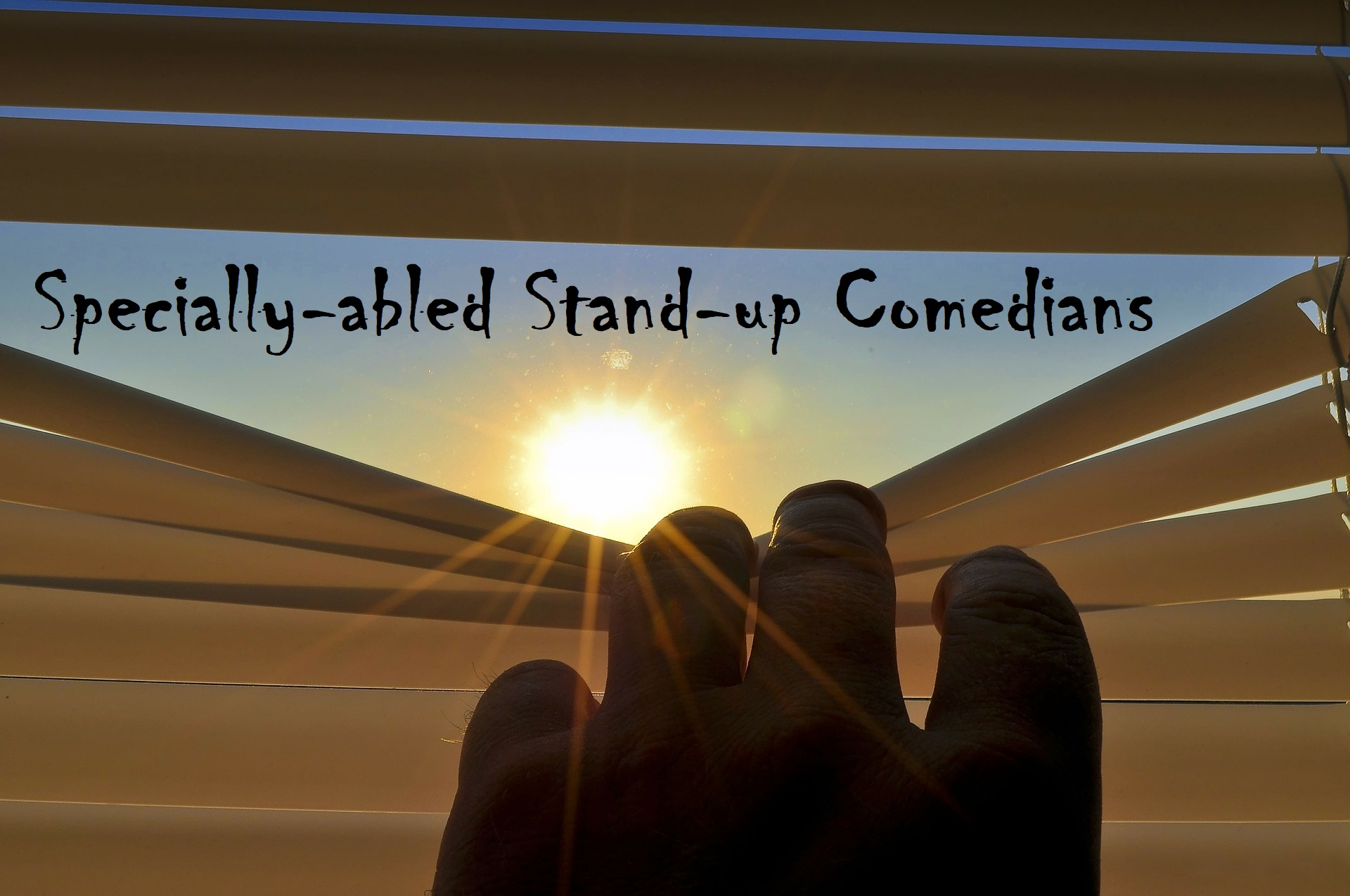specially abled stand up comics
