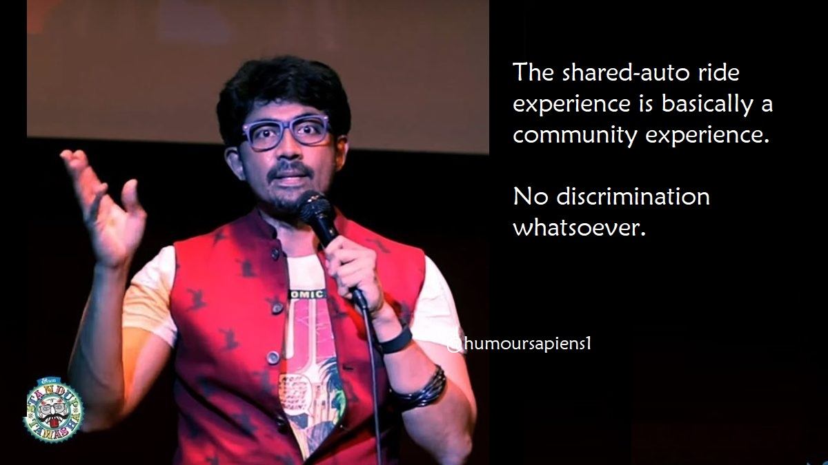 Public transport experiences of Indian stand-up comics